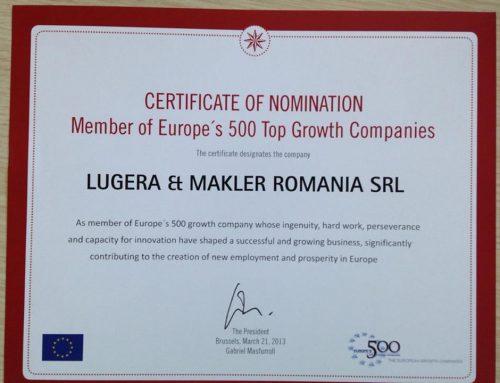 Lugera Romania & Europe's 500 Top Growth Companies
